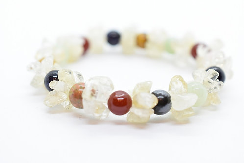 Multi-color Natural Gemstone Women's Bracelet