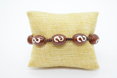Handmade Natural Red Agate Knotted Bracelet