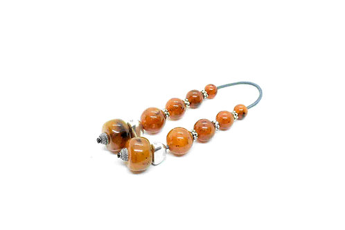 Mini Komboloi (Begleri), Orange, Amber, Brown color