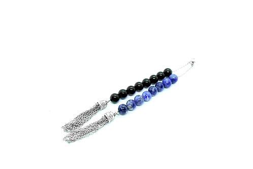 Black Onyx & Sodalite Gemstone Begleri