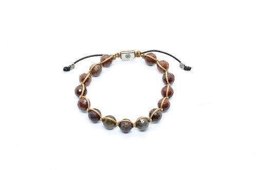 Brown Quartz Gemstone Unisex Bracelet
