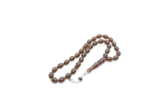 Prayer Amber beads, Brown color