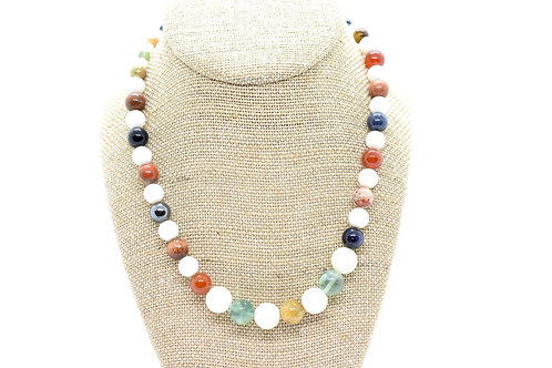 Multi-Color Natural Gemstone, Handmade Women's Necklace