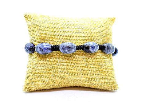 Sodalite Natural Gemstone Hand Knotted Unisex Bracelet