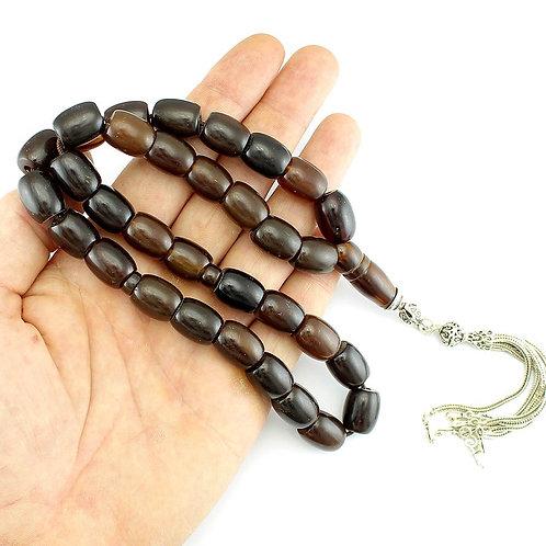 Vintage Faturan beads in dark Brown color
