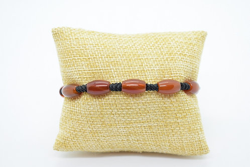 Red Agate Natural Gemstone Hand Knotted Unisex Bracelet