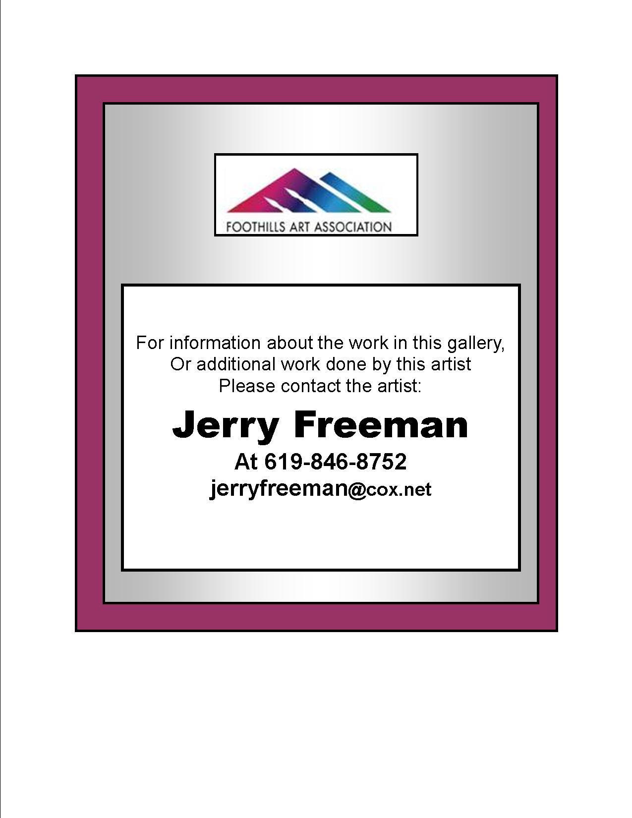 Jerry Freeman - Contact