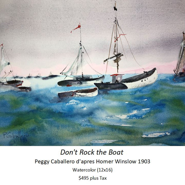 Don't Rock the Boat - Peggy Caballero