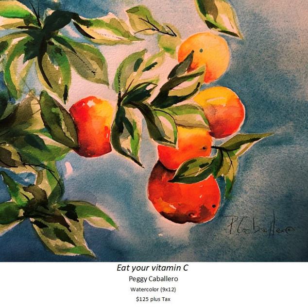 Eat your vitamin C - Peggy Caballero