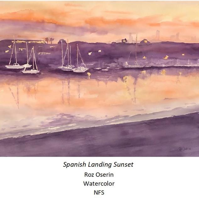 Spanish Landing Sunset - Roz Oserin