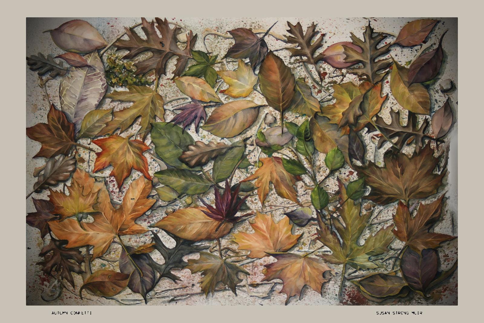 Autumn Leaf  watercolor  Susan Strong Mu