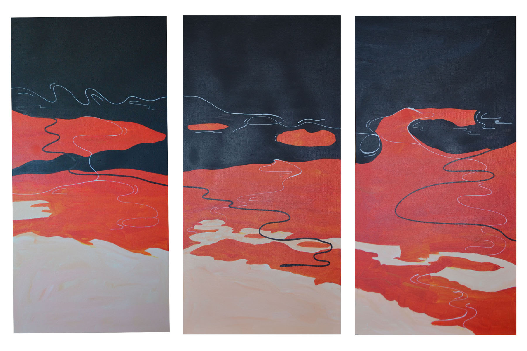 Oil on the Bay Triptych - McLaughlin
