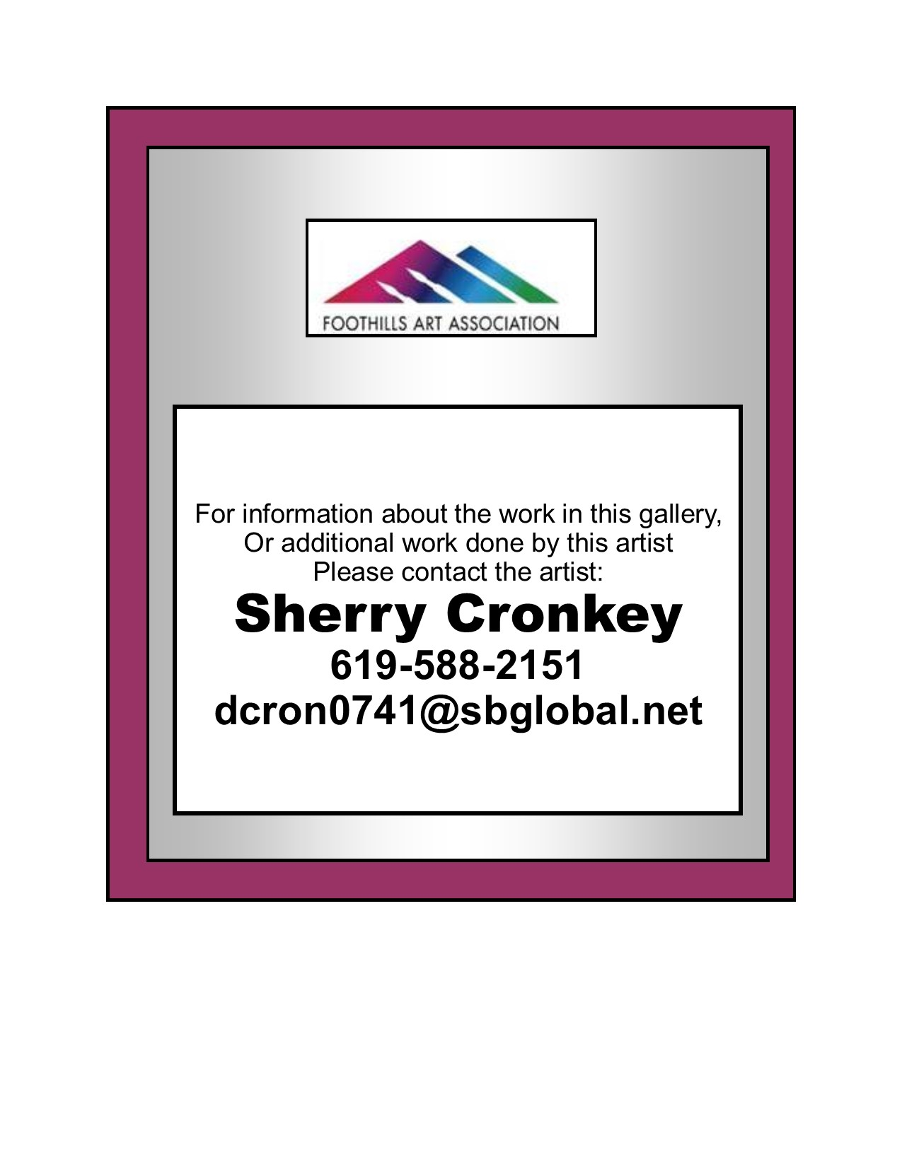 Sherry Cronkey Contacts
