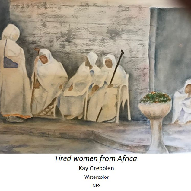 Tired women from Africa - Kay Grebbie