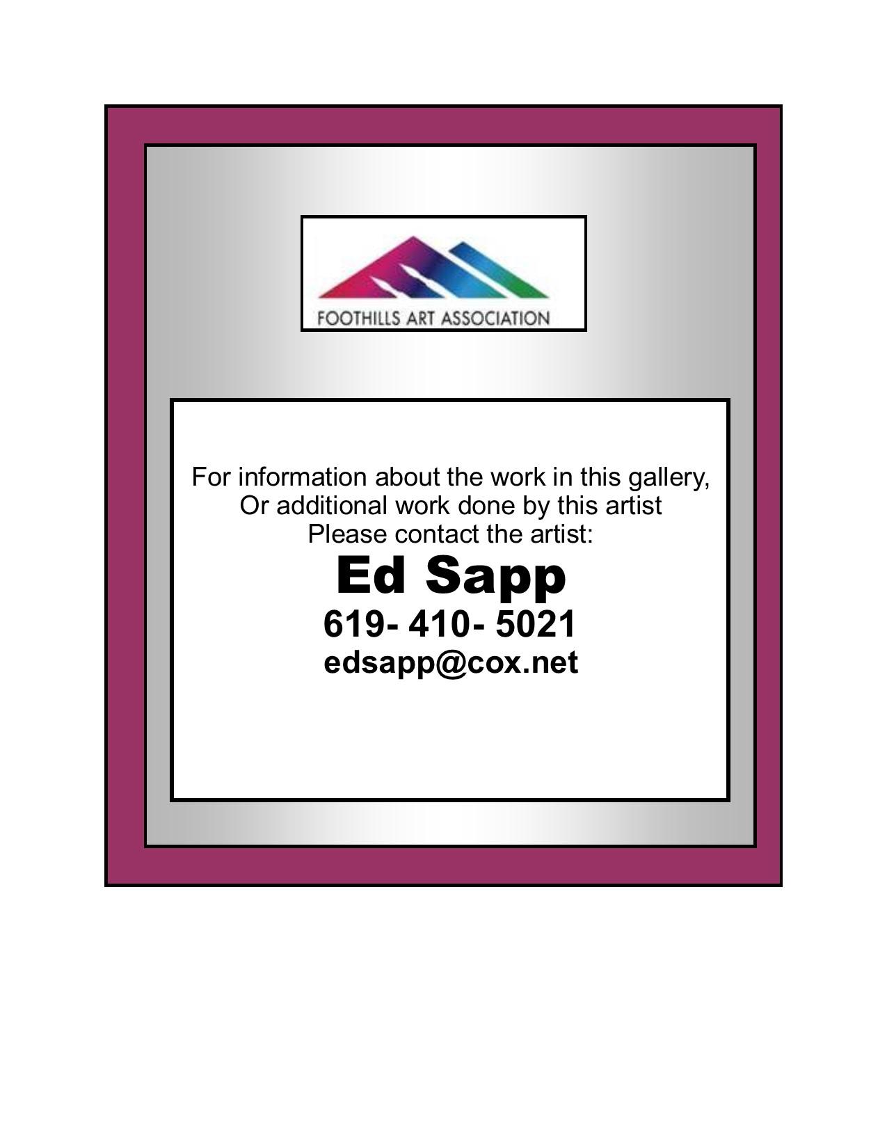 Sapp, Ed Contact