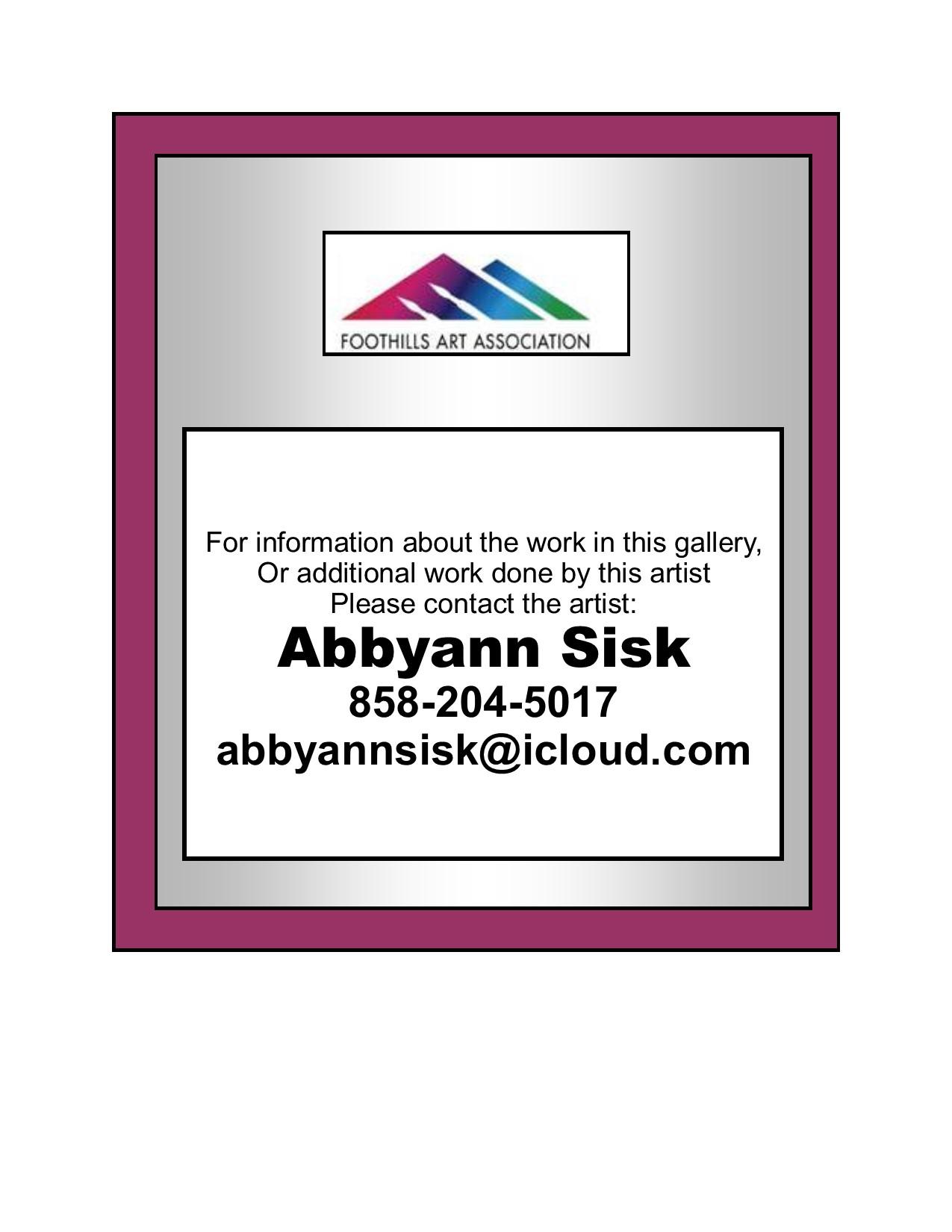 Abbyann Sisk Contact Info