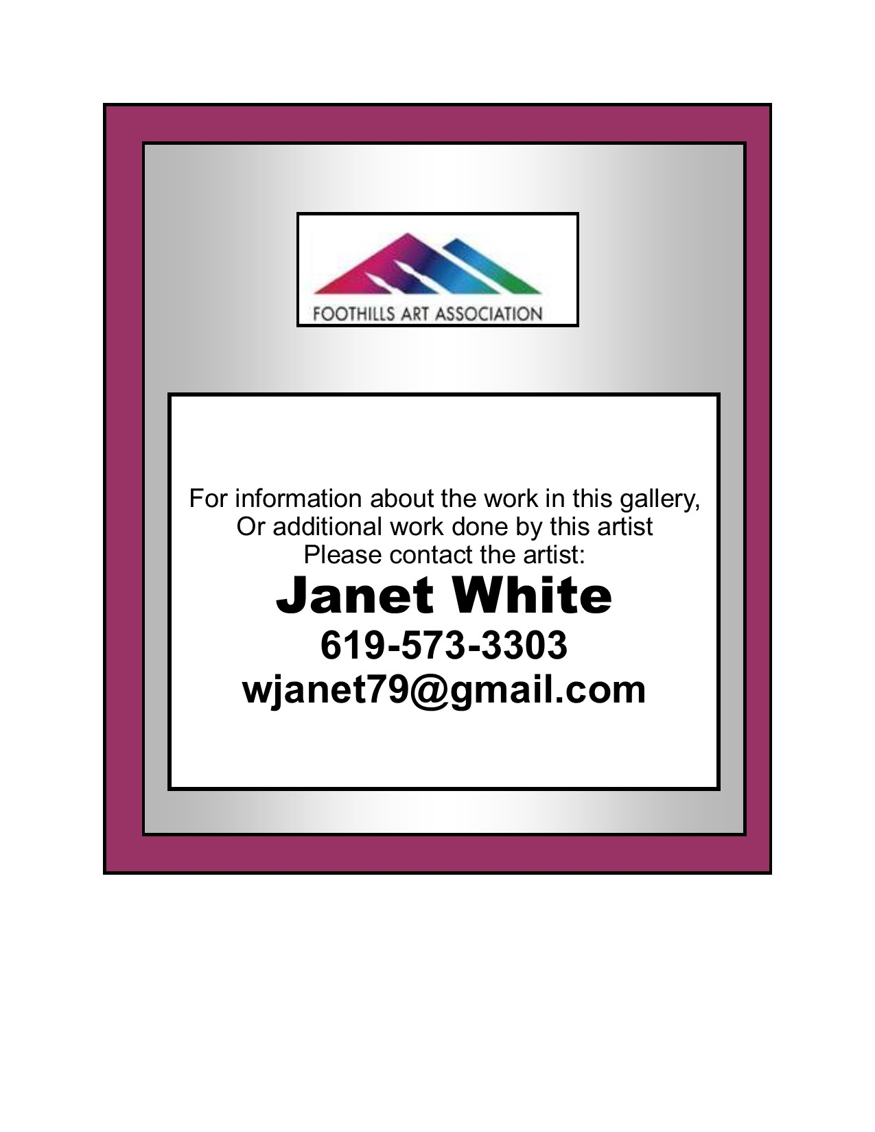 Janet White Contact Info