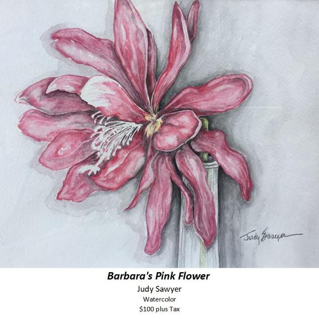 Barbara's Pink Flower - Judy Sawyer - Wa