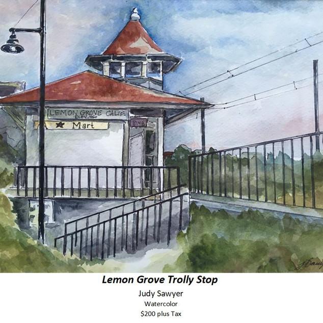 Lemon Grove Trolly Stop - Judy Sawyer -