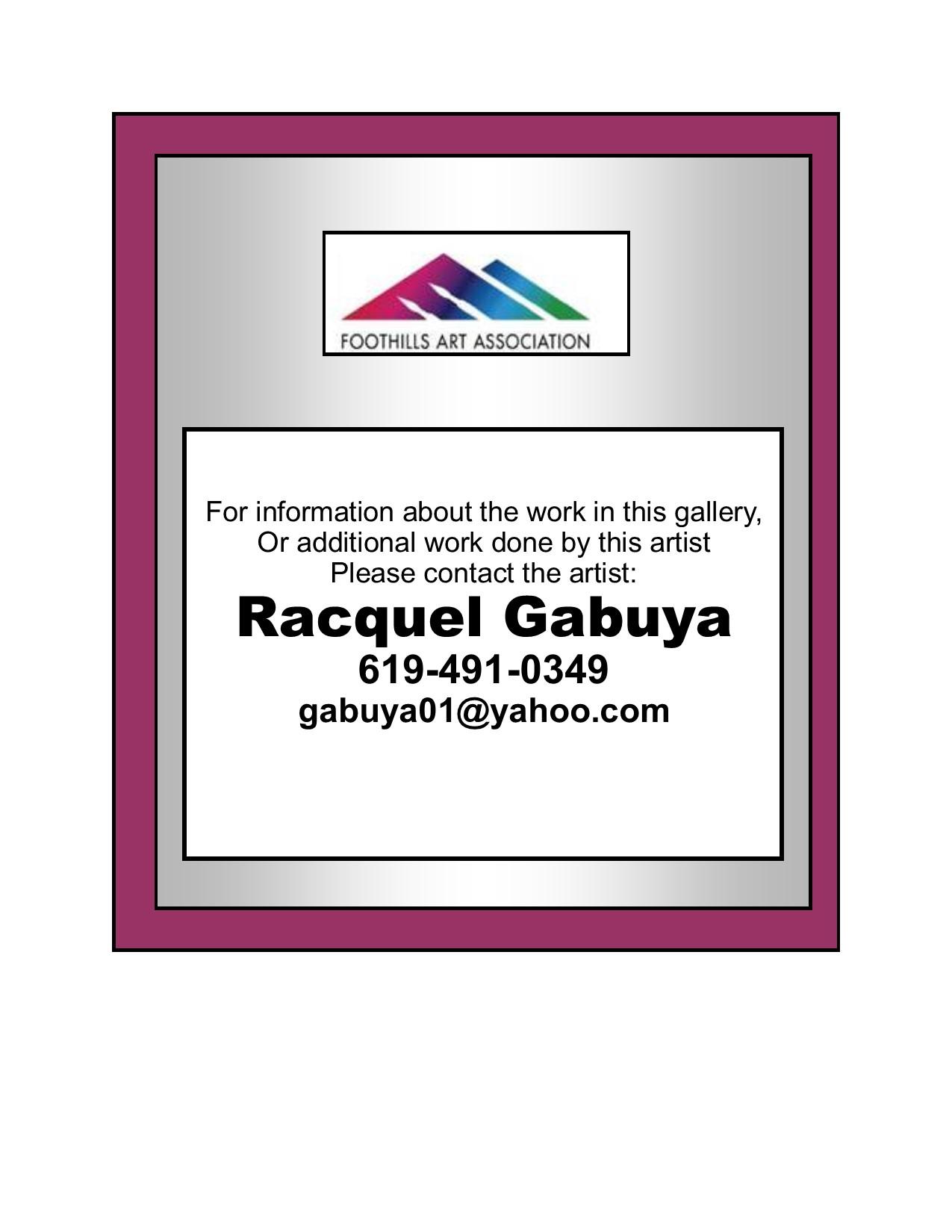 Racquel Gabuya Contact