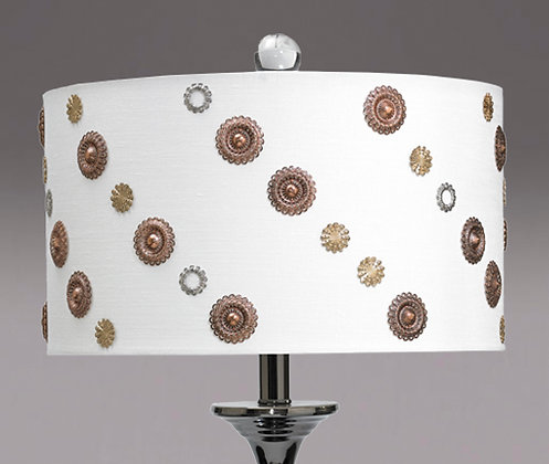 "In the Mix lamp shade only 14"" D x 8"" H"