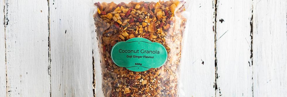 Goji Ginger Coconut Granola