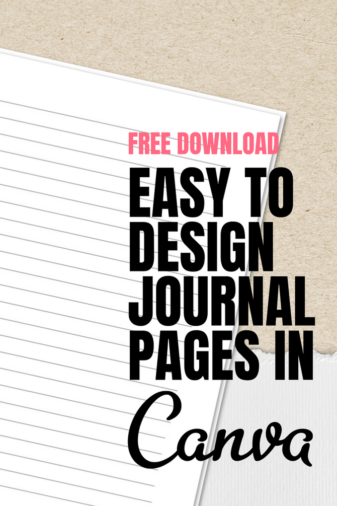 How to create notebook pages in Canva!