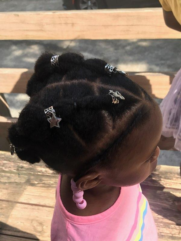 Braided protective style for black girls