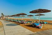 יום כיף בחוף עין בוקק ים המלח החוף המחודש במקום שרותי הצלה,שמשיות ומלתחות  ניתן לשכור כסאות נח