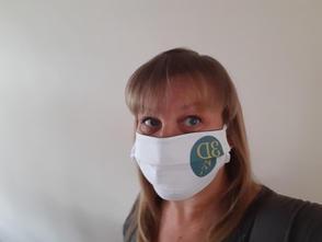 3DVA corporate branded cotton face mask