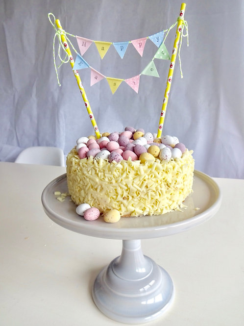 HAPPY EASTER Cake Bunting Topper