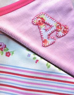 personalised bunting for girls hand stit