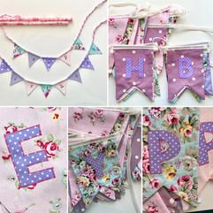 Purple and Pink birthday bunting