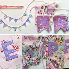 Purple and Pink birthday bunting