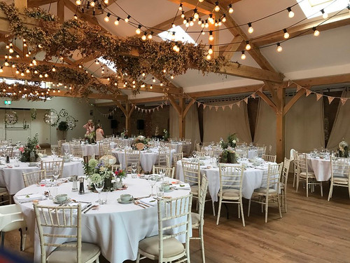 Gold Sequin bunting at Doxford Barns