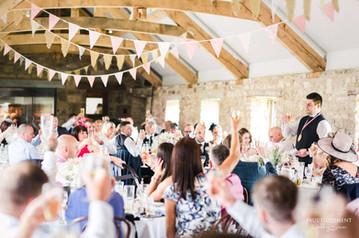Wedding bunting hire at Healey Barn Northumberland