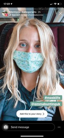 Mini Green face mask