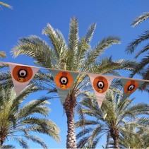 Printed bunting for Suzy Menkes for Conde Nast