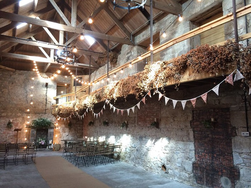Threshing Hall bunting at Doxford Barns
