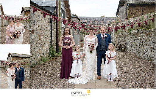 Wedding party at Doxford Barns