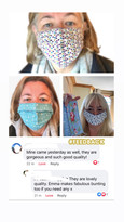 Client feedback from our cotton face masks
