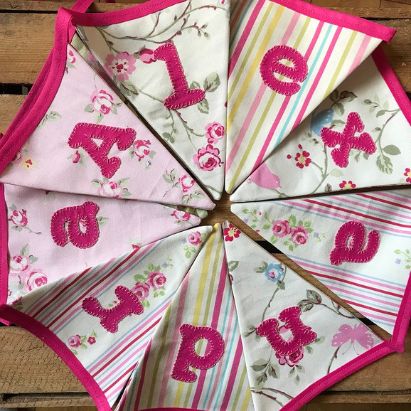 Personalised childrens bunting