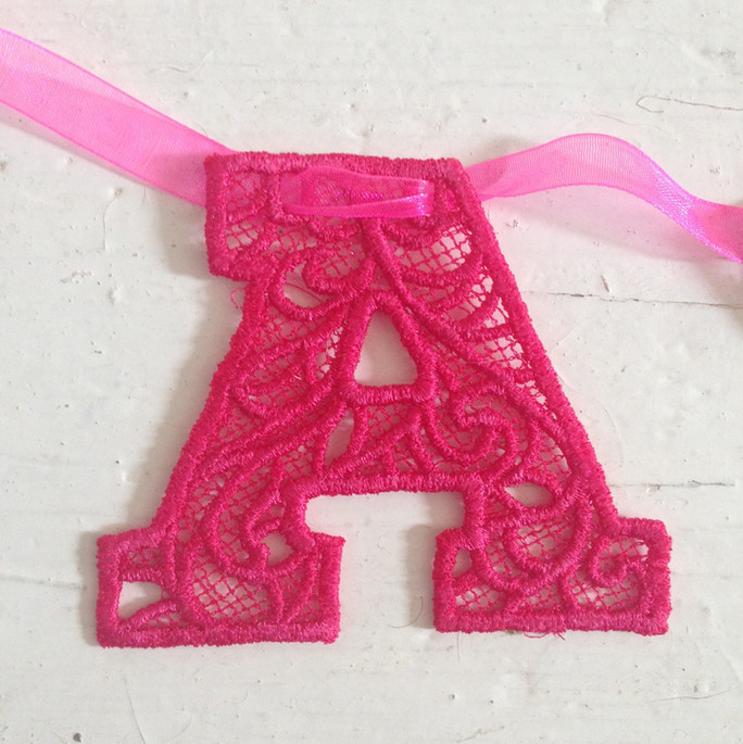 Lace letter bunting