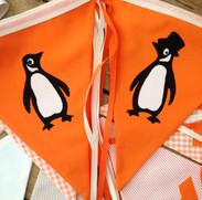 Penguin wedding bunting