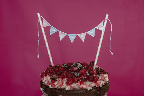 Pretty pastel cake bunting