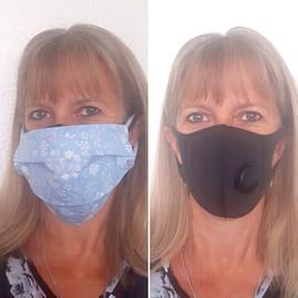 Pretty blue face mask