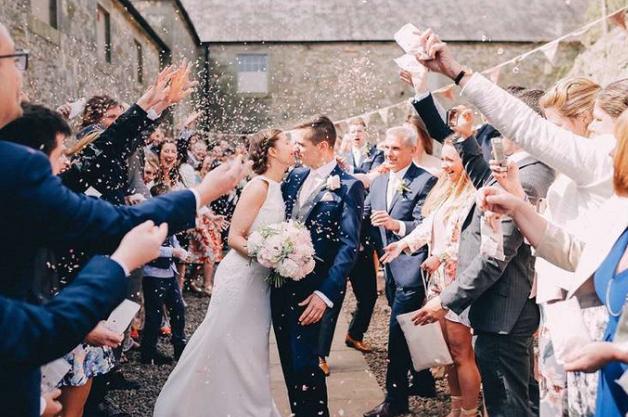 Doxford Barns Northumberland wedding bunting