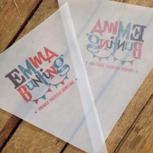 Waterproof printed outdoor bunting
