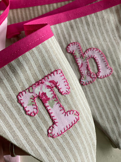 Thea hand-stitched bunting