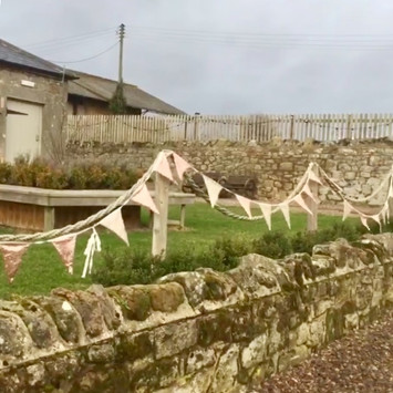 Doxford Barns Northumberland wedding bunting hire